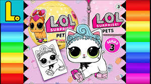 Drawing And Coloring ROYAL KITTY CAT From LOL Surprise Series 3 PETS