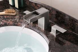 Brushed Nickel Bathroom Faucets Cleaning by Ruvati Rvf5125bn Waterfall 8 15 U2033 Widespread Modern Contemporary