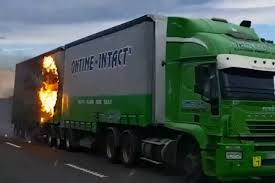 100 Truck Stuff And More Drives Down State Highway 1 South Of Timaru On Fire
