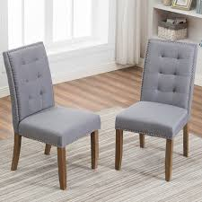 Merax Set Of 2 Stylish Tufted Upholstered Fabric Dining Chairs With  Nailhead Detail And Solid Wood Legs (Grey) Grey Linen Herringbone Ding Chair Set Of Two Stylish Chairs From Amazon To Upgrade Your Room Rex Mouse Velvet 2pk Jerry White Ding Chair With Solid Oak Legs Stylish Ding Chair With Light Grey Linen Fabric Leather 6 Pieces Black In Dewsbury West Yorkshire Gumtree Lowmediumhigh Upholstered For Any Budget Product Of The Week A Pair Alexa Caroline Antique 46 Modern Side High Backrest Metal Frame Legs Pu Turin Light Oak Low Back Gold Fabric