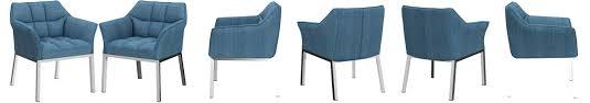 clp loungesessel octavia mit stoffbezug i polsterstuhl mit armlehnen und gestell aus edelstahl metall i in vielen farben erhältlich farbe blau