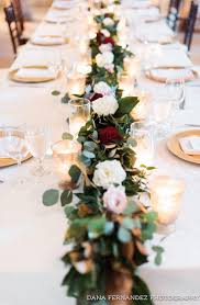 Dont You Just Love This Romantic Looking Head Table Thanks Danafernandezphoto For Sharing Wedding TablesWedding GarlandTable Clothes