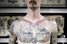 Chest Tattoo By Cisco Ltw Studio