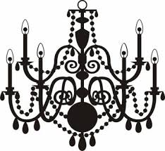 Lighting Chandelier Clipart Vector Pencil And In Color