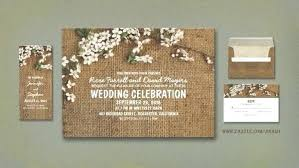 Wedding Reception Invitations Burlap And Flowers Rustic Invites With