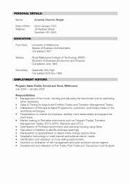 Functional Resume Templates New For Project Manager