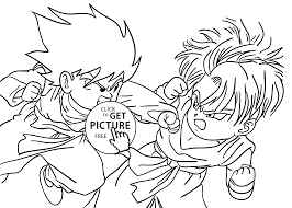 Dragon Ball Z Coloring Page Goten From Pages For Kids Printable Free