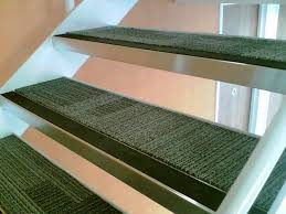 Stair Carpet Grippers by Stair Traditional Straight Stair Design With Black Rubber Treads