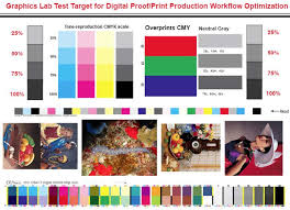 This Image Shows Test For Printing With Multiple Images Various Colors