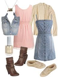 Girly Girl Back To School Teen Fashion