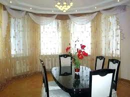 Bay Window Dining Room Treatments Drapes Ideas Modern