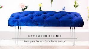 Tufted Velvet Sofa Bed by Diy Velvet Tufted Bench Home Decor Tutorial Interior Design