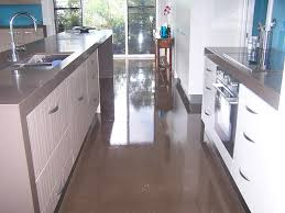 Poured Epoxy Flooring Kitchen by Home