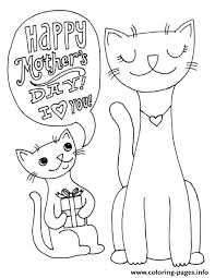 Happy Mothers Day Cats Animal S2691 Coloring Pages Print Download 467 Prints