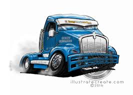 Race-truck-Cartoon-WHT-BG - DMAC Studio, Illustrate Create