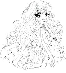 Chibi Anime Coloring Pages Printable Cute Princess