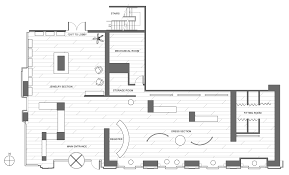 Clothing Boutique Floor Plan Retail Store