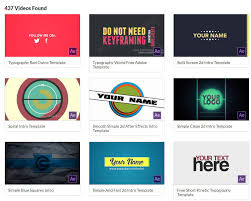 Top Free After Effects Templates