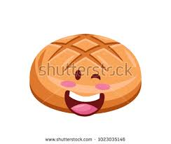 Happy Cute Pastry Cartoon Character Illustration Bun