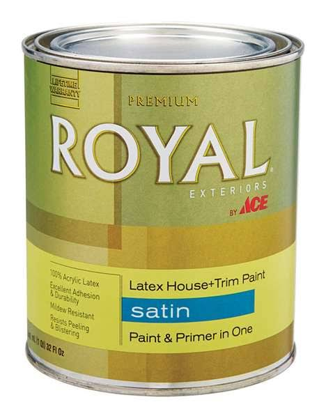Royal Exteriors Ace Royal Tintable Base Satin Acrylic Latex House & Trim Paint & Primer 1 qt.