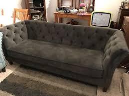 Armen Living Barrister Sofa by Velvet Sofa Ebay