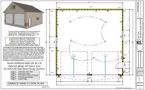 30 X 30 With Loft Floor Plans by Apartments Stand Alone Garage Plans Stand Alone Garage Floor