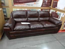 Decoro Leather Sofa With Hardwood Frame by Costco Leather Sofa Roselawnlutheran