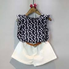 2PCS Summer Cute Toddler Kids Baby Girls Clothes T Shirt Tops Shorts Skirts Outfits