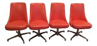 Chromcraft Dining Room Chairs by Chromcraft 69 Swivel Dining Chairs Set Of 4 Chairish