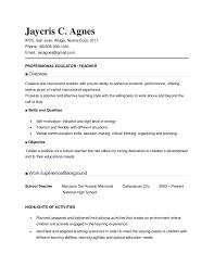 resume sle for teachers