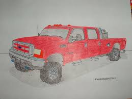Lifted Ford Diesel Trucks Drawings, How To Draw A Truck | Trucks ...