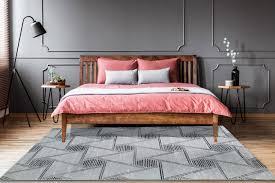 teppich wohnzimmer grau modern schlafzimmer