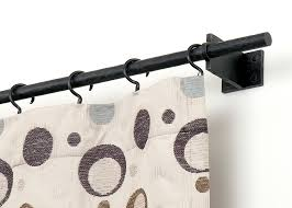Curtain Rod Bracket Extender Walmart by Decor White Bali Shades With Black Target Curtain Rods And White