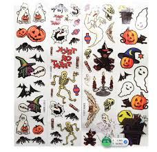 12pcs Box Kids Toy Cartoon Halloween Tattoo Sticker Temporary Tattoos Bat Skull Spider Set Maquiagem Tatuagem Gift For Child In From