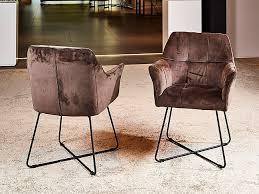 6 x stuhl opera stoff braun 6 esszimmerstühle