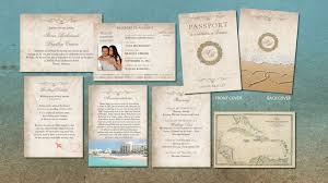 Passport Wedding Invitation Booklets