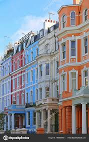 100 Notting Hill Houses Colourful Row London Stock Photo Baloncici