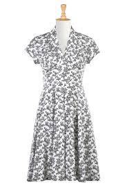 feminine pleated floral cotton knit dress jersey knits and