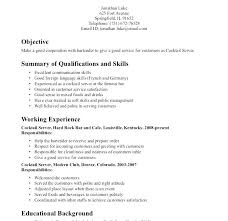 Soft Skills For Resume From Server Examples Nice Waiter