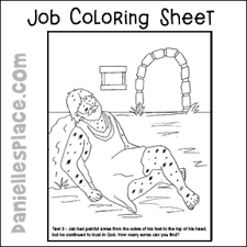 Job Coloring Sheet For Jobs Second Test Bible Lesson From Daniellesplace