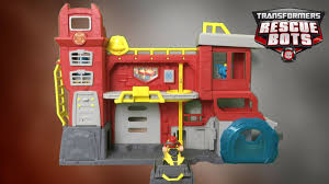 Transformers Rescue Bots Griffin Rock Firehouse Headquarters From ... New 2016 Transformers Rescue Bots Heatwave Hook Ladder Firetruck Toy News Rescue Bots Flip Racers Revealed Bwtf Transformers Huge Collection Optimus Bee Chase Heatwave Playsets Mobile Headquarters With Prime Playskool Heroes The Fire Bot Electronic Station Maxx Action Fire Truck Hook Ladder Truck Playskool Heroes Griffin Rock Team House W