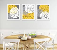 wandkunst gelb grau blume blume schlafzimmer wand dekor burst blumen blühen kunstwerk set 3 drucke badezimmer wand dekor kinderzimmer wand kunst