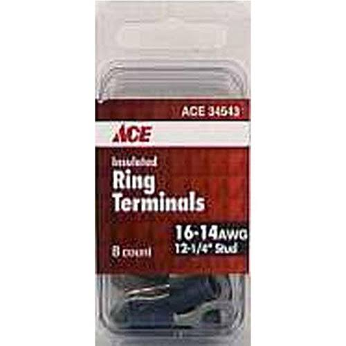Ace Insulated Ring Terminal - Blue, 10 Pack