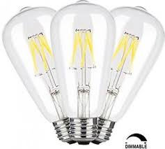 crlight 6w dimmable edison style vintage led filament light bulb