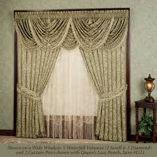 Beaded Curtains Bed Bath And Beyond by Curtains With Waterfall Valance Decorate The House With