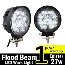 Amazon.com: TMH 27w Round Shape 60 Degree LED Work Light Flood Beam ... Turbosii Pair 7 Inch Led Light Bar Off Road Driving Fog Lights Super 10w Roundsquare Spotflood Beam Led Work For Car Motorcycle Land Rover Defender Offroad Truck 4x4 27w Round Spot Lightfox 20 Inch 126w Cree 4wd Flood 4 54w Flood Dc 1030v 172056 Lamp 2 Cree For Dicn 1 5in 45w Floodlights 45w Working 1pcs 5inch 18w Pod 2pcs 27w Tractor Boat