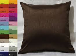 Pottery Barn Throw Pillow Inserts by Amazon Com Creative Faux Silk Solid Euro Sham Pillow Cover 26