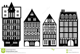 100 German Home Plans Traditional Houses Old Houses Royalty Free