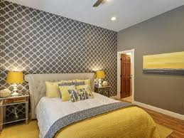 Chic Yellow And Grey Bedroom