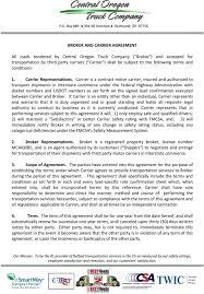 100 Truck Broker License BROKER AND CARRIER AGREEMENT PDF